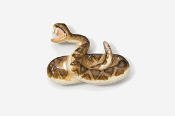#605P - Rattlesnake Hand Painted Pin