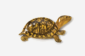 #608P - Box Turtle Hand Painted Pin