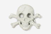 #801P - Skull and Cross Bones / Pirate Skull Hand Painted Pin