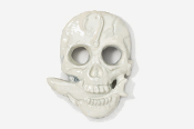 #802P - Skull with Shark Hand Painted Pin