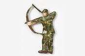#903AP - Traditional Bow Hunter Hand Painted Pin