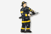 #915P - Fireman Hand Painted Pin