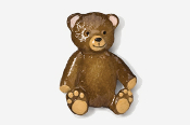#970P - Teddy Bear Hand Painted Pin
