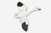 #320P-S - Flying Snow Goose Hand Painted Pin