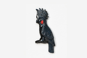 #355P-BP - Black Palm Cockatoo Hand Painted Pin