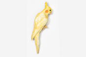 #355AP-Y - Yellow Cockatiel Hand Painted Pin