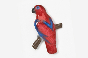 #357P-FE - Female Eclectus Parrot Hand Painted Pin
