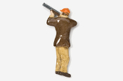 #902P-BK - Brown & Khaki Shooter / Bird Hunter Hand Painted Pin