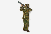 #902P-C - Camo Shooter / Bird Hunter Hand Painted Pin