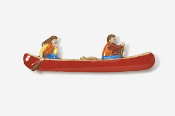 #931P-R - Red Canoe Hand Painted Pin