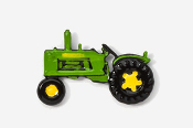 #935P-G - Green Tractor Hand Painted Pin