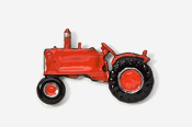 #935P-R - Red Tractor Hand Painted Pin