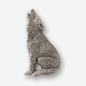 #D41820 - Howling Wolf (left) Pewter Drawer Pull