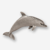 #D47510 - Dolphin (right) Pewter Drawer Pull