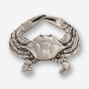 #D53110 - Blue Crab Pewter Drawer Pull