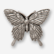 #D57000 - Tiger Swallowtail Pewter Drawer Pull