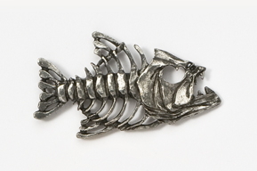 #175 - Bony Fish Antiqued Pewter Pin
