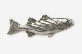 #207 - Striper / Striped Bass Antiqued Pewter Pin