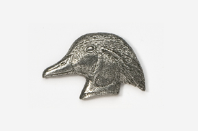 #317 - Wood Duck Head Antiqued Pewter Pin