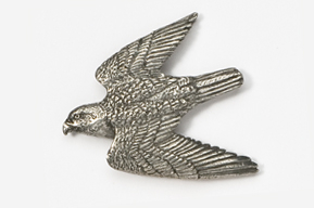 #365 - Peregrine Antiqued Pewter Pin