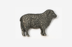 #447 - Sheep Antiqued Pewter Pin