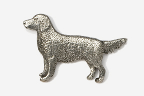 #454 - Golden Retriever Antiqued Pewter Pin
