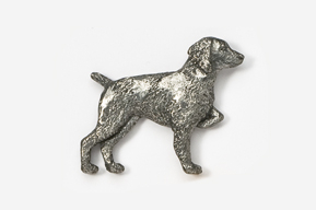 #455 - Brittany Antiqued Pewter Pin