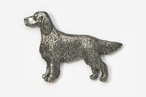 #457A - Irish Setter Antiqued Pewter Pin