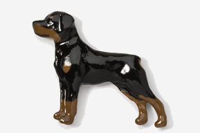 #460P - Rottweiler Hand Painted Pin