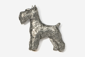 #461 - Schnauzer Antiqued Pewter Pin