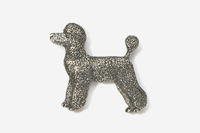 #461D - Pet Clip Poodle Antiqued Pewter Pin