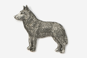 #464A - Husky Antiqued Pewter Pin