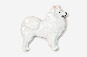 #464EP - American Eskimo Hand Painted Pin