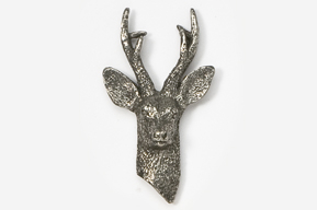 #470 - European Roebuck Antiqued Pewter Pin