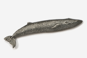 #480 - Blue Whale Antiqued Pewter Pin