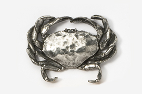 #531A - Dungeness Crab Antiqued Pewter Pin