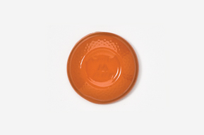 #800P-O - Orange White Flyer Clay Pigeon Hand Painted Pin