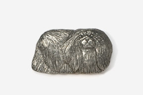 #853 - Pekinese Antiqued Pewter Pin
