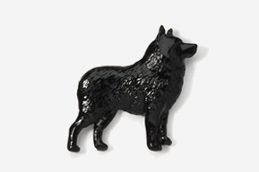 #878P - Schipperke Hand Painted Pin