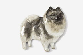 #883P - Keeshond Hand Painted Pin