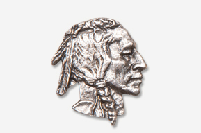 #920 - Native American Antiqued Pewter Pin
