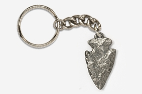 #K702 - Arrowhead Antiqued Pewter Keychain