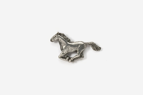#M443 - Galloping Horse Pewter Mini-Pin