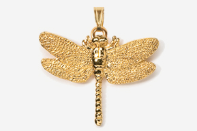 #P569G - Dragonfly 24K Gold Plated Pendant
