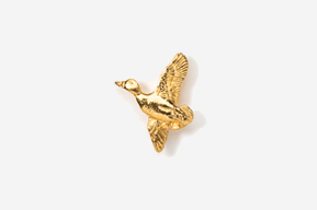 #TT321G - Flying Mallard 24K Plated Tie Tac